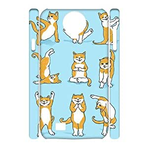 Yoga Cats Custom 3D Cover Case for SamSung Galaxy S4 I9500,diy phone case ygtg573334