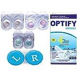 Optify Monthly Coloured Contact Lens (Zero Power, Hazel-Voilet-Aqua, Opt-CL-hazel-voilet-aqua)