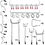 Wangday Pegboard Hooks Accessories, 52-Piece Peg Board Hook Attachments Set