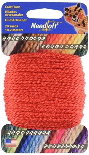 Needloft Craft Yarn, 20-Yard, Christmas Red