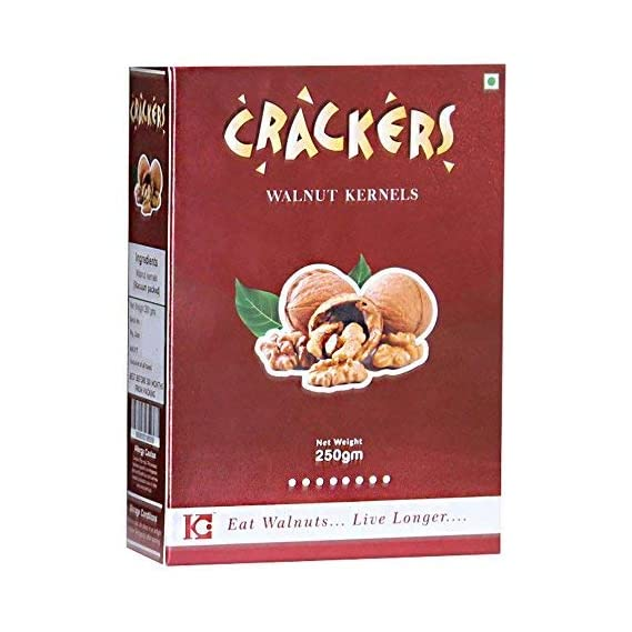 Go Crackers Kashmiri Brown Walnuts Kernels 250gm -Without Shell