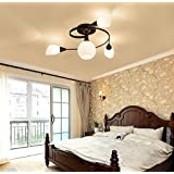 TiptonLight Chandelier Lighting with 4 Heads without Light Bulb-Modern Style for Sitting Room,Dining-room,Study,Corridor,Bedroom