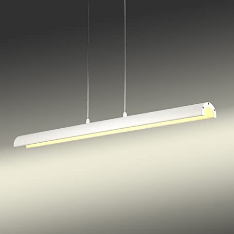 NATSEN LED 27W Linear Pendant Light Fixture Bright Contemporary ...