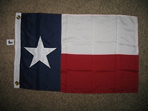 Embroidered / Sewn Texas Cotton Flag 2 Ply 12X18 12X18 Boat Bike Car Flag by Flag