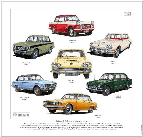 Classic Triumph Saloons Print --- 2000,