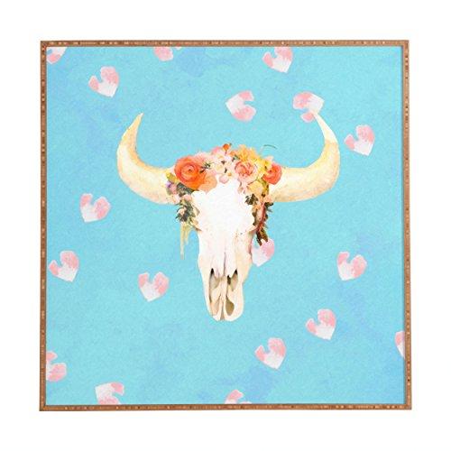 Deny Designs Kangarui, Romantic Boho Buffalo Ii, Framed Wall Art, Small, 12