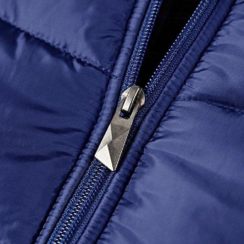 Cappuccio Colore Xinheo Blu A Addensare Zip Uomini Caldo Vento Scuro Giacca Giacca Con Solido 7qRXw7gY
