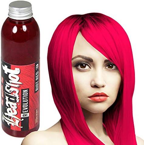 Tinte para el cabello rojo Headshot Revolution Riot Red, semi permanente, 150 ml
