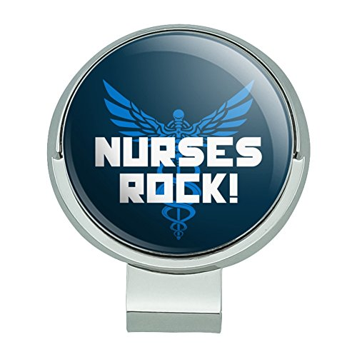 GRAPHICS & MORE Nurses Rock RN Caduceus Staff of Hermes Golf Hat Clip with Magnetic Ball Marker ()