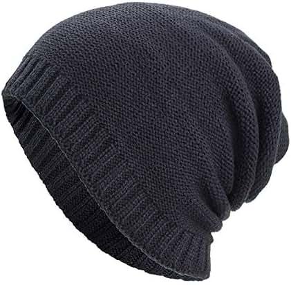 Dressin_Hat Women Men Skull Warm Baggy Weave Crochet Winter Wool Knit Ski Caps Hats Visor Cap
