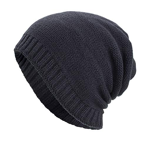 Kimloog Unisex Baggy Slouchy Knit Beanie Cap Thick Winter Warm Ski Skull Hat (Black) for $<!--$6.78-->