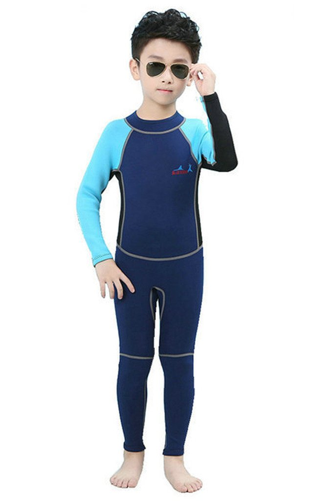 2mm Neoprene Wetsuit for Kids Boys Girls One Piece Swimsuit