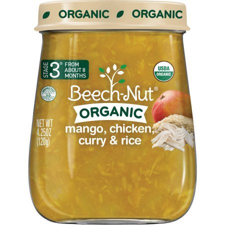 Beech-Nut Organic Mango Chicken Curry with Rice Baby Food, 4.25 oz, (Pack of 10)