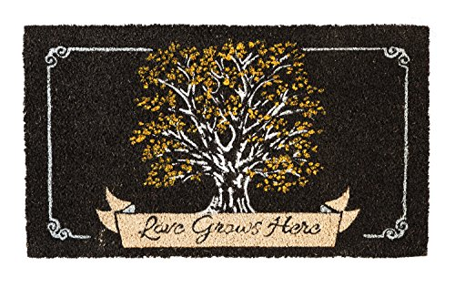 Evergreen Flag 2RM375 Love Grows Here Coir Mat Multi-Colored