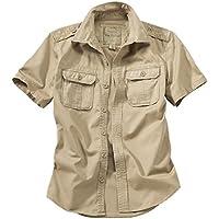 Surplus Raw Vintage Men's Short Sleeve Shirt Beige Size X-Large
