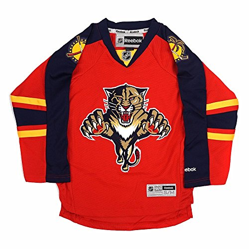 Florida Panthers NHL Reebok Youth Red Official Premier Home Jersey (M)