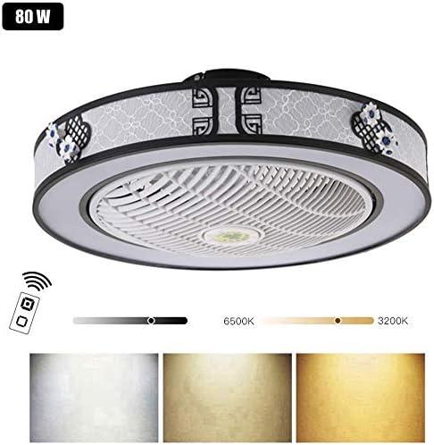 WJJH 80W LED Ventilador de Techo con Iluminación y Mando a ...