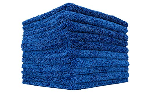 - THE RAG COMPANY (10-Pack) 16 in. x 16 in. Professional Edgeless 70/30 Blend 420 GSM Dual-Pile Plush Microfiber Auto Detailing Towels Creature Edgeless (Royal Blue)