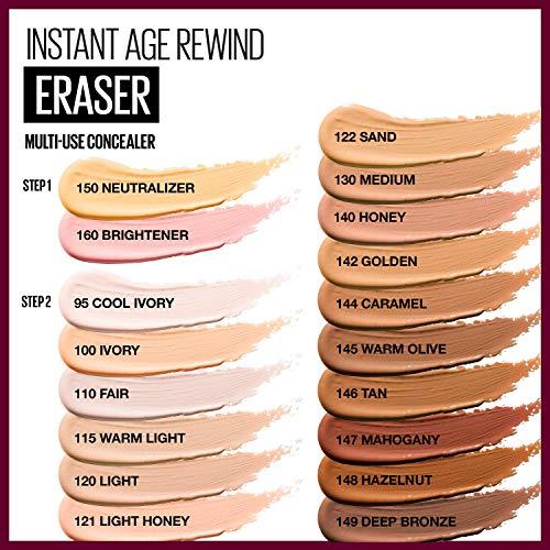 Maybelline Instant Age Rewind Eraser Dark Circles Treatment Concealer, Brightener, 0.2 Fl Oz (1 Count) (Packaging May Vary)