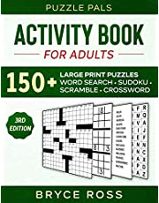 ACTIVITY BOOK FOR ADULTS: 150+ Large Print Puzzles