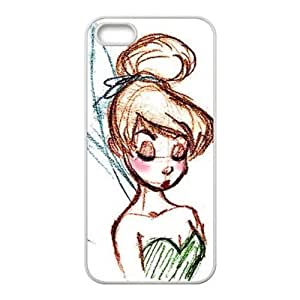 Case for iPhone 5s,Cover for iPhone 5s,Case for iPhone 5,Hard Case for iPhone 5s,Cover for iPhone 5,Tinker Bell Design TPU Hard Case for Apple iPhone 5 5S