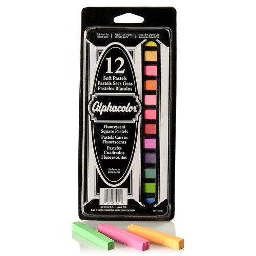 Quartet Alphacolor Soft Pastels, Fluorescents, 12 Pastels per Set ()