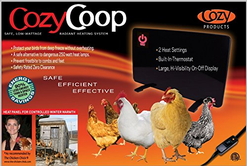Cozy Products Safe Chicken Coop Pet Heater 200W Flat Panel Technology, One Size, Black by Cozy (Image #1)
