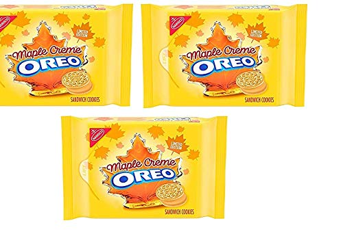 OREO Golden Sandwich Cookies, Limited Edition Maple Flavor Creme 12.2oz Pack of 3 by Oreo