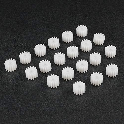 ILLIO 20Pcs 132A Plastic Bevel Gear 5x7.5mm with 13 Teeth 2mm Hole Diameter for DIY Car Robot Model Motor Toy Accessories