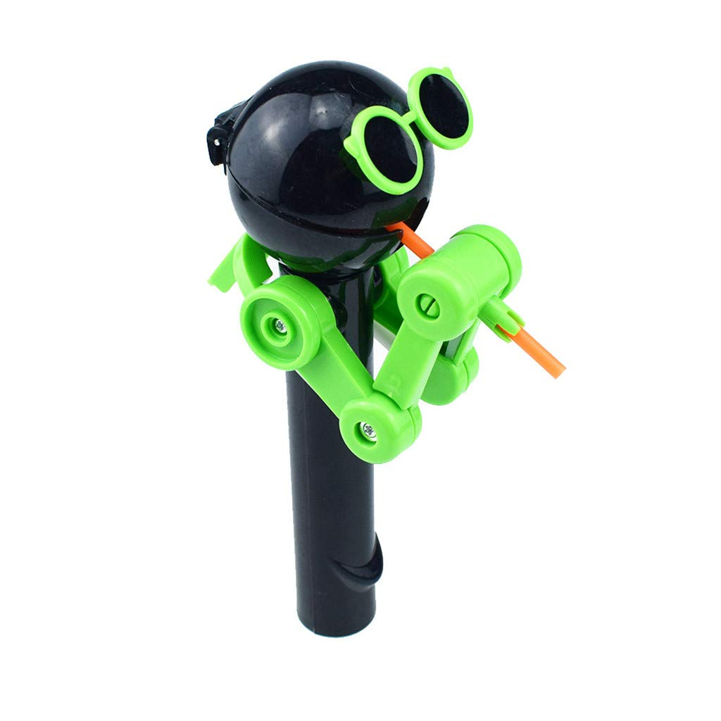 Onegirl Creative Design Eating Lollipop Robot Lollipops Holder Funny Lollipops Stand Gifts Fashion Toys (Black)