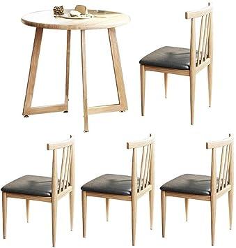 MJK Juego de comedor Mesa y sillas Mesas de cocina redondas ...