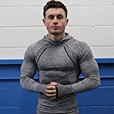 JIMNATH Pro HyperWarm Men's Active Fitness Gym Running Hoodie Top Functional Fabric-INCREDIBLE COMFORT