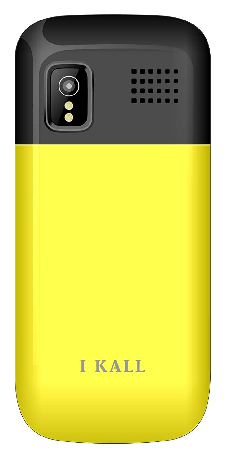 IKALL Dual Sim 2 4-inch Display Feature Phone K6303 with 1800 mAh Battery,  Bluetooth, GPRS, Flash Light and MP3/FM Player Neckband (Yellow)