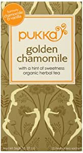 Pukka Herbs Organic Herbal Tea, Golden Chamomile, 20 Count (Pack of 6)