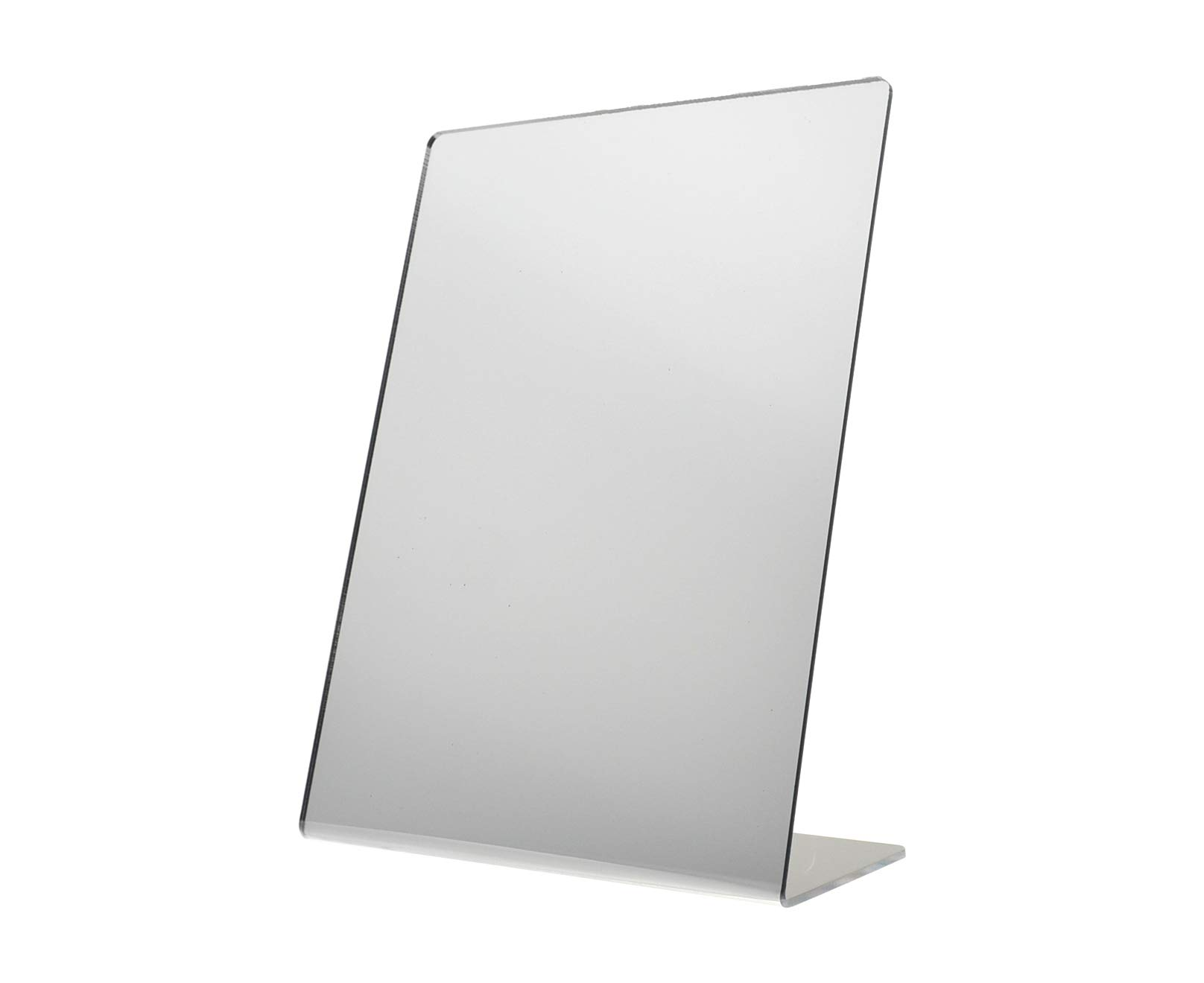 Marketing Holders 8.5'' W x 11'' H Slant Back Counter Top Jewelry Makeup Children's Baby Mirror (1)