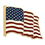 American Flag Lapel Pin Proudly Made in USA, 10 Pack