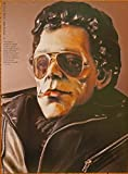 Lou Reed by artist Adam Kurtzman, from the original vintage Illustrated Rolling Stone Book