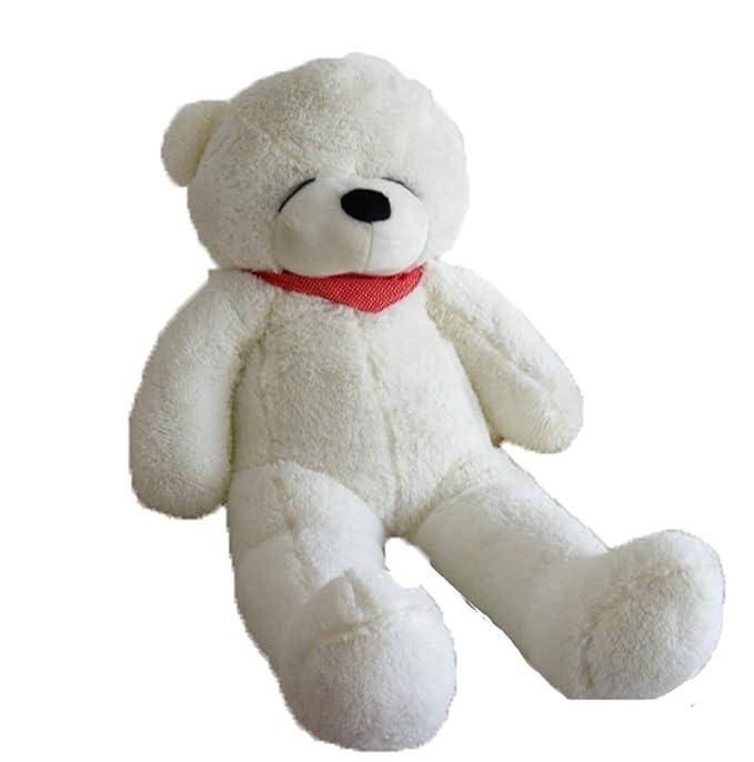 verc Art Regalo oso de peluche gigante Ojos cerrado oso de peluche muñeca color blanco Talla:80 cm: Amazon.es: Bebé
