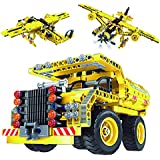 Construction Building Kits Toy - Truck and Plane 2 in 1 Pack, Educational STEM Learning Sets for Kids, Best Gift