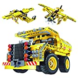 #1: Construction Building Kits Toy - Truck and Plane 2 in 1 Pack, Educational STEM Learning Sets for Kids, Best Gift