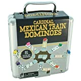 Cardinal Mexican Train Double 12 Dominoes in Aluminum Carry Case