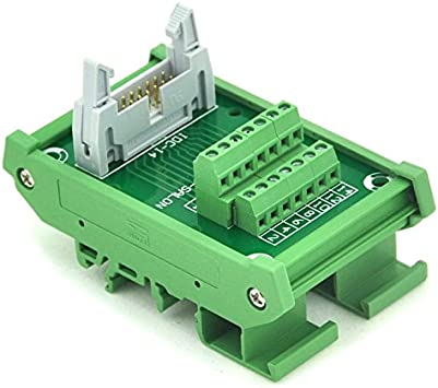 Terminal Block. Breakout Board Electronics-Salon IDC-50 DIN Rail Mounted Interface Module
