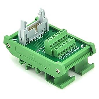 Electronics-Salon IDC-14 DIN Rail Mounted Interface Module