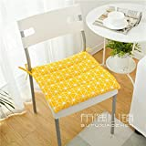 HOMEE the Office Student Automotive Arts Cotton, Linen/Cotton Cushions Dining Chairs with Thin Cushions Anti-Slip Tether Portable ,45X45Cm (Not Tether), 2,005 Small Squares Thin),Mr M,45x45cm