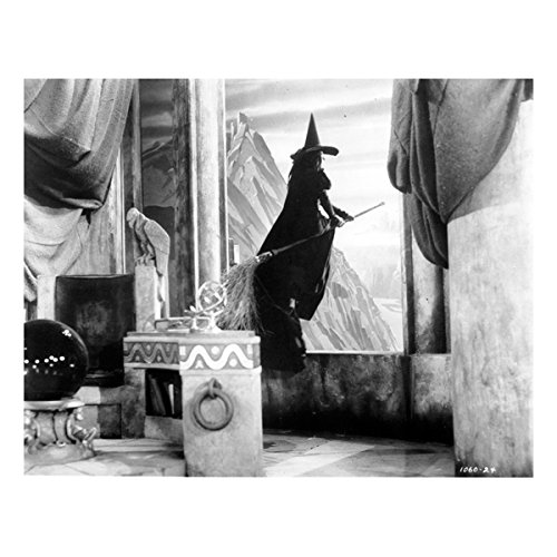 (The Wizard of Oz Wicked Witch of The West aka Margaret Hamilton Ready to Fly 8 x 10 Photo )