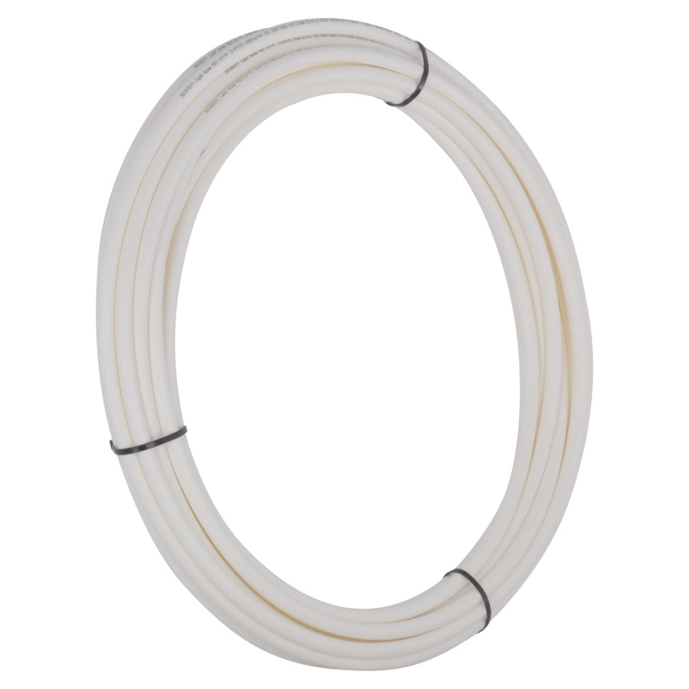 SharkBite PEX Pipe Tubing 1/4 Inch, White, Flexible Water Tube, Potable Water, U850W50, 50 Foot Coil