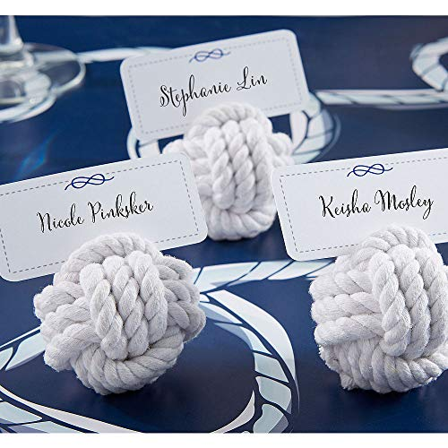 Card Monkey Holder (ELEGANI Nautical Rope Knot Place Card Holders Your Wedding Favors)