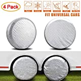 Best Tire Covers - Amfor Set of 4 Tire Covers,Waterproof Aluminum Film Review
