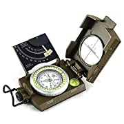 #LightningDeal Eyeskey Multifunctional Military Metal Sighting Navigation Compass with Inclinometer | Impact Resistant & Waterproof Compass for Hiking, Camping, Boy Scout