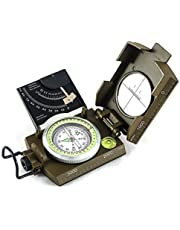 Eyeskey Multifunctional Military Metal Sighting Navigation Compass with Inclinometer | Impact Resistant & Waterproof Compass for Hiking, Camping, Boy Scout